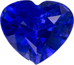 Optimum Blue Sapphire Heart Cut Gem in Vivid Rich Blue, 6.1 x 5.3 mm, 0.9 carats