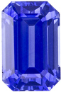 Rare Emerald Cut Blue Sapphire Loose Gem, Rich Blue Color in 8.2 x 5.3 mm, 2.12 carats