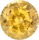 Rich Peachy Golden Topaz Loose Gem in Round Cut, 6.9 mm, 1.72 carats