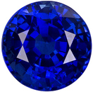 Super Fine Royal Blue Round Shape Sapphire in Intense Rich Royal Blue Color in Large 8.6 mm, 3.69 carats