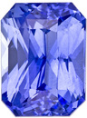 Super Beautiful Sapphire Loose Gem in Radiant Cut, Rich Cornflower Blue, 7.2 x 5.3 mm, 1.71 carats