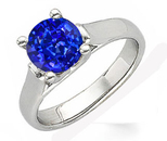 Chunky & Funky Round Very Fine GEM Deep Cornflower Color 6mm Blue Sapphire 1 carat Solitaire Gemstone Ring for SALE