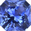 Magnificent Sapphire Loose Gem in Asscher Cut, Medium Vibrant Blue Violet, 5.69 x 5.68  mm, 0.97 Carats