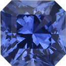 Fine Sapphire Loose Gem in Asscher Cut, Medium Blue Violet, 5.75 x 5.74  mm, 1.04 Carats