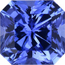 Special Buy On Sapphire Loose Gem in Asscher Cut, Vibrant Blue Violet, 5.47 x 5.43  mm, 0.92 Carats