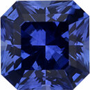 Super Value Sapphire Loose Gem in Asscher Cut, Vibrant Blue Violet, 5.99 x 5.94  mm, 1.21 Carats