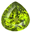 Large and Vibrant Special Pakistani Peridot Natural GEM for SALE, Pear Shape, 15.82 carats --SOLD--