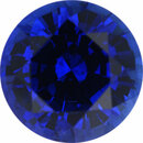 Nice Sapphire Loose Gem in Round Cut, Vibrant Violet Blue, 7.03 mm, 1.73 Carats