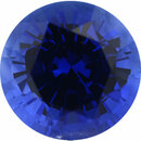 Fabulous Sapphire Loose Gem in Round Cut, Medium Strong Violet Blue, 6.96 mm, 1.66 Carats