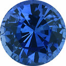 Hard to Find Sapphire Loose Gem in Round Cut, Vibrant Violet Blue, 7.32 mm, 2.04 Carats