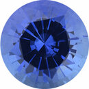 Natural Sapphire Loose Gem in Round Cut, Light Violet Blue, 5.38 mm, 0.75 Carats