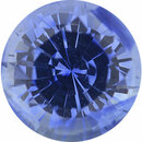 Special Buy On Sapphire Loose Gem in Round Cut, Light Violet Blue, 5.72 mm, 0.98 Carats