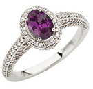 Glorious GEM Brazilian Oval Cut 0.85 Fine Gem 7.00 x 5.00 mm Alexandrite set in a 1.50ct Pave Diamond White Gold Ring on SALE