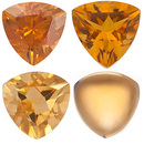 GOLDEN CITRINE  Trillion Cut Gems - Calibrated