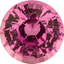 Super Pretty Sapphire Loose Gem in Round Cut, Light Purple Pink, 5.58 mm, 0.9 Carats