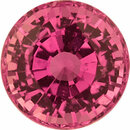 Fabulous Sapphire Loose Gem in Round Cut, Vibrant Purple Pink, 5.46 mm, 0.99 Carats