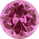 Beautiful Sapphire Loose Gem in Round Cut, Light Purple Pink, 5.5 mm, 0.79 Carats