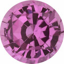 Excellent Value Sapphire Loose Gem in Round Cut, Light Purple Pink, 5.49 mm, 0.78 Carats