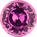 Bargain Priced Sapphire Loose Gem in Round Cut, Medium Purple Red, 6.05 mm, 1.03 Carats