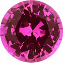 Amazing Sapphire Loose Gem in Round Cut, Medium Purplish Red, 5.99 mm, 0.9 Carats