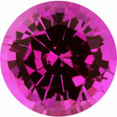 Classic Sapphire Loose Gem in Round Cut, Medium Purplish Red, 5.76 mm, 0.92 Carats
