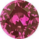 Deal On Sapphire Loose Gem in Round Cut,  Medium Purplish Red, 6.01 mm, 0.92 Carats
