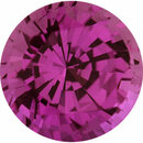 Bargain Priced Sapphire Loose Gem in Round Cut, Medium Purplish Red, 5.48 mm, 0.83 Carats