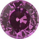 One-of-a-Kind  No Treatment Sapphire Loose Gem in Round Cut, Vibrant Purple Pink, 6.72 mm, 1.38 Carats