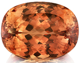 Super Gem Imperial Topaz Loose Gem in Cushion Cut, 20.90 x 16.09 x 11.51 mm, 33.95 carats with GIA Certificate