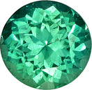 Brazilian Emerald Loose Gem in Round Cut, Very Bright Rich Green Color in 6.1 mm, 0.8 carats