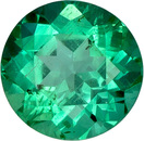Incredible Round Emerald Loose Gem in Rich Bright Green,  Crystal Gem 5.7 mm, 0.75 carats