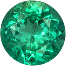 Very Bright Round Cut Emerald Loose Gem, Intense Rich Green, 7.9 mm, 1.75 carats