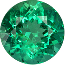 Rare Quality Emerald in Round Shape, Vivid Bright Green, 8.3 mm, 2.0 carats