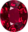 GRS Certified Oval Cut Ruby Loose Gem, Intense Rich Pure Red, 8.3 x 7.0 mm, 2.13 carats