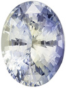 One-of-a-Kind No Treatment GIA Certified Oval Cut Bicolor Sapphire in 9.7 x 7.3 mm, 2.71 carats