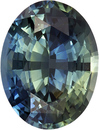 Bright & Lively No Treatment GIA Certified Oval Cut Blue Green Sapphire Loose Gem, Medium Blue Green, 8.6 x 6.6 mm, 1.88 carats