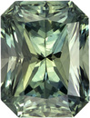 Lively & Bright No Heat GIA Certified Blue Green Sapphire Loose Gem in Radiant Cut, Vivid Blue Green, 6.7 x 5 mm, 1.46 carats