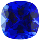Grade GEM CHATHAM CREATED BLUE SAPPHIRE Antique Square Cut