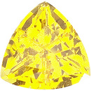 Grade GEM CHATHAM CREATED YELLOW SAPPHIRE Trillion Cut  - Calibrated