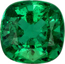 Stunning Color Green Emerald Loose Gemstone, Perfect Intense Rich Green, 7.3 x 7.1 x mm, 1.68 carats