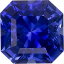 Exceptional  Vibrant Blue Sapphire Natural Ceylon Gemstone in Radiant Cut, 6.9 mm, 1.84 Carats