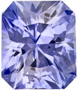 Bright & Lively Sapphire Loose Gemstone in Radiant Cut, Medium Cornflower Blue, 6.3 x 5.4 mm, 1.25 carats