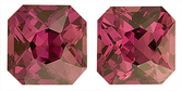 Glamorous Pair of Purple Sapphire Natural Gemstones for SALE, Radiant Cut, 2.56 carats