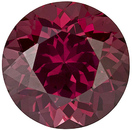 Brilliant Rhodolite Loose Gem in Round Cut, Rich Raspberry Red, 6.7 mm, 1.48 carats - SOLD
