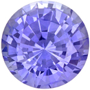 Very Crystally Sapphire Loose Gemstone in Round Cut, Cornflower With a Touch of Periwinkle, 6 mm, 1.11 carats