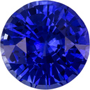 Vivid Color in Blue Sapphire Genuine Faceted Ceylon Gem in Round Cut, 8.2 mm, 2.7 Carats