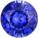 Super Lively Sapphire Loose Stone in Round Cut, Intense Blue Color in Nice 5.0 mm, 0.70 carats - SOLD