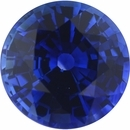 Deal On Sapphire Loose Gem in Round Cut, Vibrant Violet Blue, 7.19 mm, 1.78 Carats
