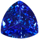 Impeccable, Intense Vivid Blue Sapphire Genuine Gemstone with Great Life! Trillion Cut, 2.35 carats