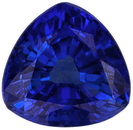 Clean Sapphire Loose Gemstone in Trillion Cut, Medium Blue, 5.3 mm, 0.8 carats